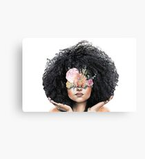 Fro and Flowers Canvas Print