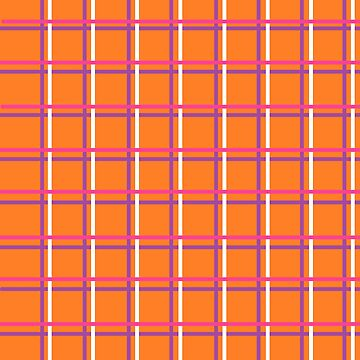 Orange, Purple, Pink and White Pattern by dinelson