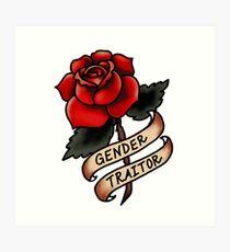 Gender Traitor Art Print