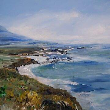 Rocky  Pacific Coast painting by schiabor