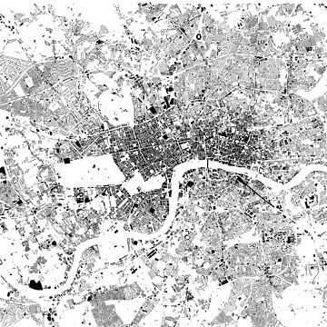London Buildings Map (Black on White) by flashman