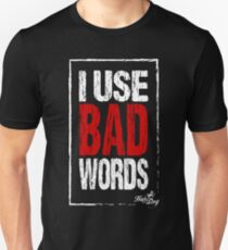 Bad words on black Slim Fit T-Shirt