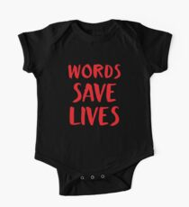 Words SAVE LIVES One Piece - Short Sleeve