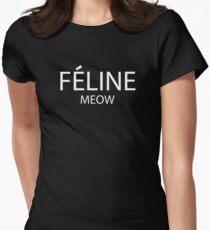 Feline Meow Women's Fitted T-Shirt