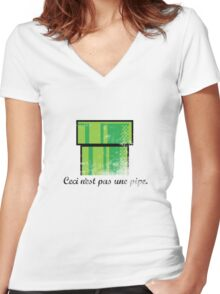 This is not a pipe. Women's Fitted V-Neck T-Shirt