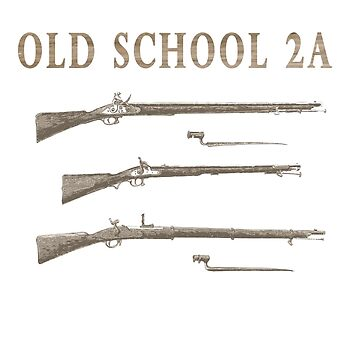 Old School 2A Second Amendment Rifle Shirt Old Guns by Archpress