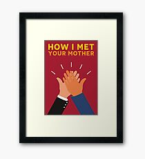 How I Met Your Mother Alternative Poster - High Five by Popate Framed Print