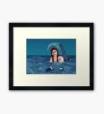 The Unhappy Mermaid Framed Print