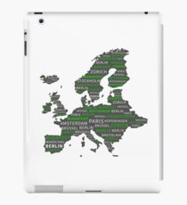 Europe continent. gift idea iPad Case/Skin