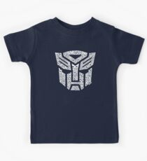 Transformer Autobots White Kids Tee