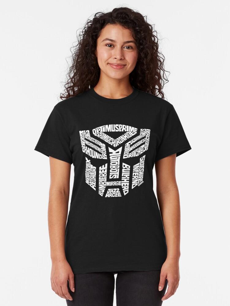 Alternate view of Transformer Autobots White Classic T-Shirt