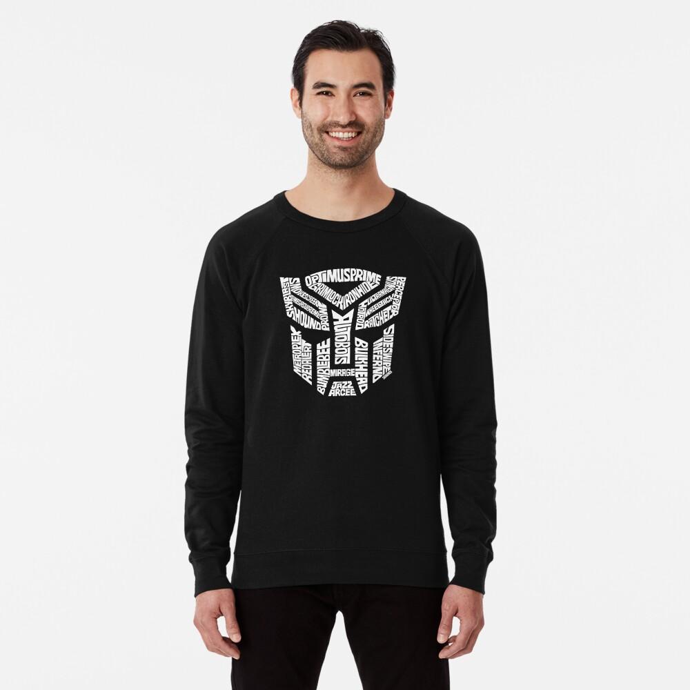 Transformer Autobots White Lightweight Sweatshirt