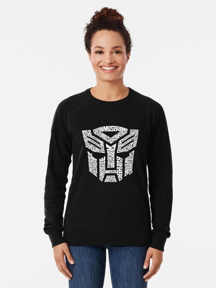 Alternate view of Transformer Autobots White Lightweight Sweatshirt