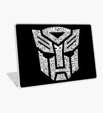 Transformer Autobots White Laptop Skin