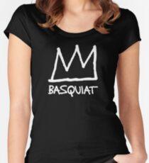 Jean-Michel Basquiat Crown Women's Fitted Scoop T-Shirt