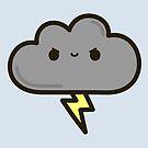 Cute lightning cloud by peppermintpopuk