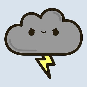 Cute lightning cloud by peppermintpopuk