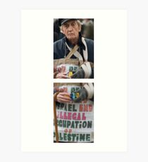 miserable looking bugger with a toy camera (diptych) Art Print