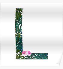 L - Tropical Alphabet Series Poster