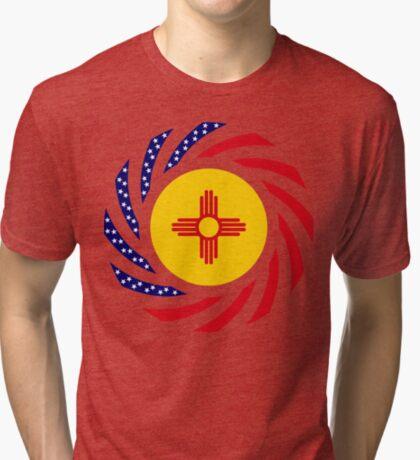 New Mexican Murican Patriot Flag Series Tri-blend T-Shirt