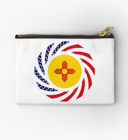 New Mexican Murican Patriot Flag Series Zipper Pouch