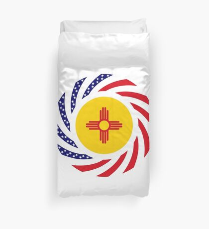 New Mexican Murican Patriot Flag Series Duvet Cover