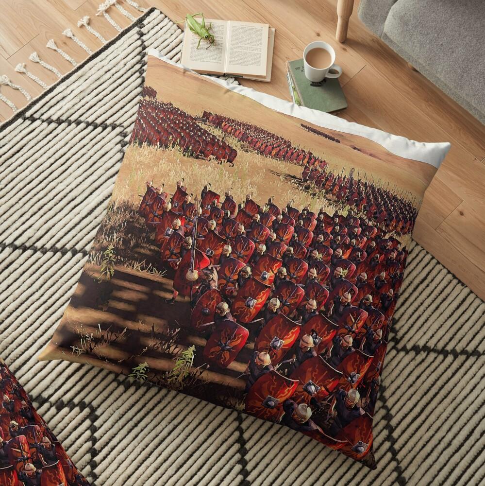 Römische Legion im Kampf Bodenkissen