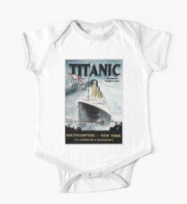 Titanic - Weinleseplakat Baby Body Kurzarm