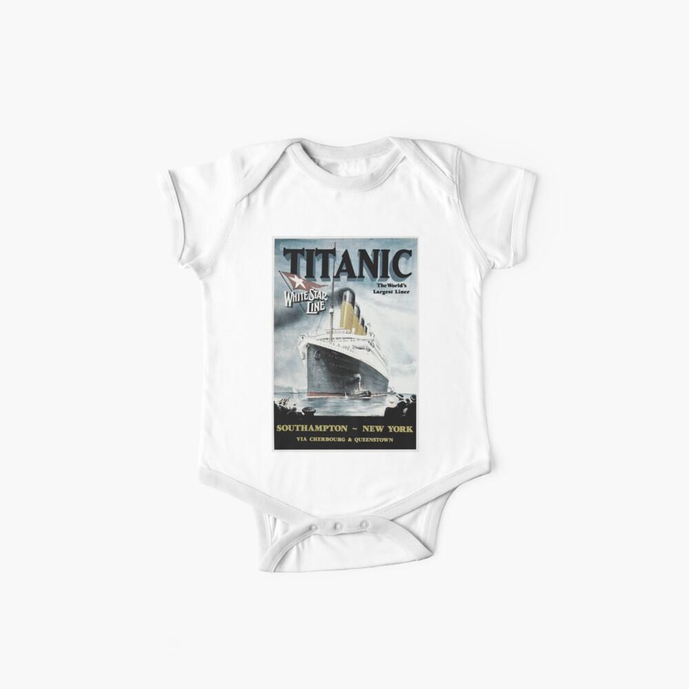 Titanic - cartel de la vendimia Bodies para bebé