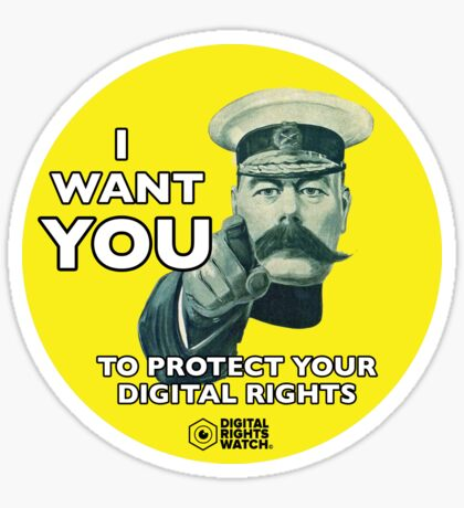 Protect your Digital Rights Sticker