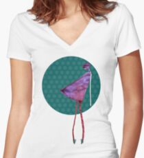 violet diva Women's Fitted V-Neck T-Shirt