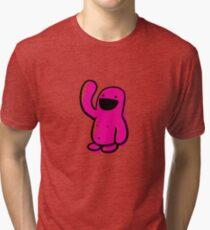 sketchy Pink Happyman Tri-blend T-Shirt