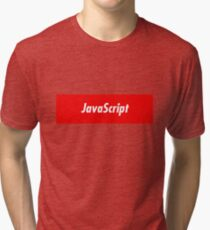 JavaScript Developer - Programming Stickers and other items! Tri-blend T-Shirt