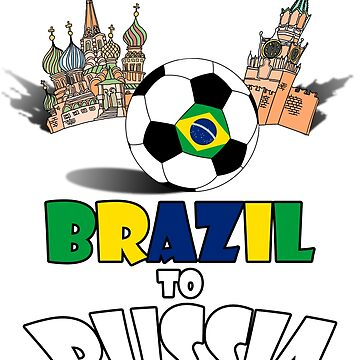Brazil National Soccer Team to Russia T-Shirt by MaliDo
