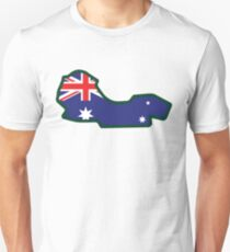 Melbourne Grand Prix Circuit - Melbourne, Australia Slim Fit T-Shirt