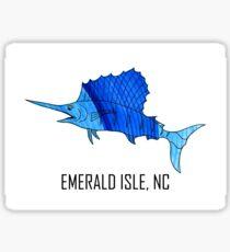 Sea Blue Sailfish (Emerald Isle, NC) Sticker