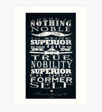 True Nobility Art Print