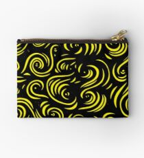 Mcclintock Abstract Expression Yellow Black Studio Pouch