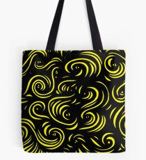 Mcclintock Abstract Expression Yellow Black Tote Bag