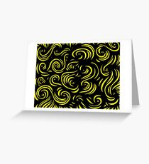 Mcclintock Abstract Expression Yellow Black Greeting Card