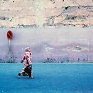 Woman on the Street; Marrakech, Morocco by Columodwyer