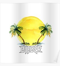 PALM TREES - BIEBER - SUN Poster