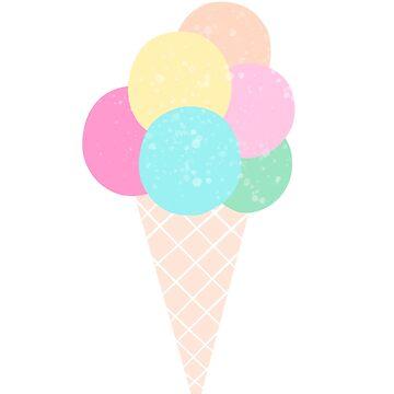 Ice Cream Pastel Color by piratart