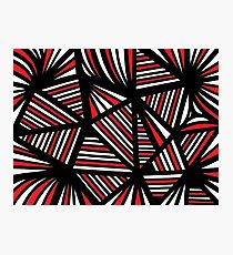 Christon Abstract Expression Red White Black Photographic Print