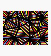 Switcher Abstract Expression Yellow Red Blue Photographic Print