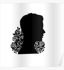 BIEBER - ROSES - SILHOUETTE  Poster