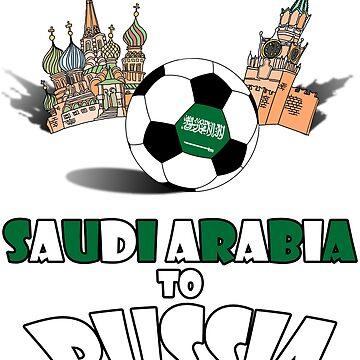 Saudi Arabia National Soccer Team to Russia T-Shirt by MaliDo