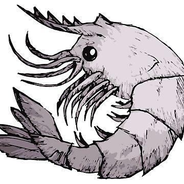 Giant Shrimp Sketch by mydragonzeatyou
