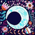 Folk Art Moon by Amanda Gatton