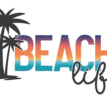 Beach Life Summer Logo by graphicloveshop